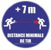 Icone pour respecter la distance de de tir de 7 mètres pendant une partie paintball