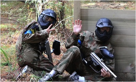 les Blacks Birds Paintball en pleine action....