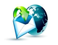 Enveloppe et globe pour illustrer le contact courrier de Paintball 75 Paris
