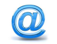 Arobase bleue pour illustrer le contact par e-mail de Paintball 75 Paris