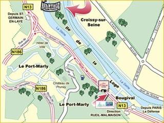 Plan de l'île pour rejoindre l'entrée de Paintball 75
