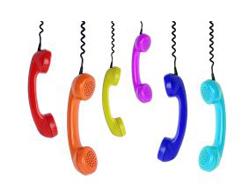 Combinés de téléphone multi-color pour illustrer le numéro d'appel de Paintball 75